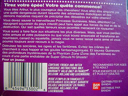 Résumé du jeu au dos de la boite française