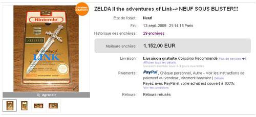 Zelda II enchere