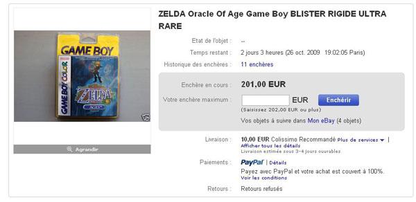 Il reste à l'heure actuelle 2 jours et 3 heures avant la fin de la vente, et le jeu est à 201€ pour 11 enchères! Et il va très certainement encore monté! Mais jusqu'où?