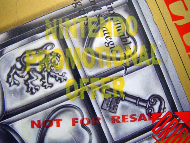 NINTENDO PROMOTIONAL OFFER not for resale Zelda Nes US