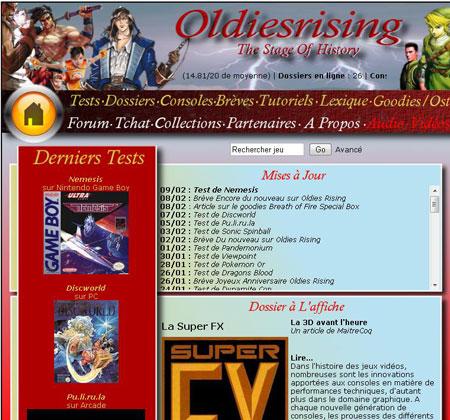 OldiesRising: Tests, dossiers, tutos sur les jeux retros