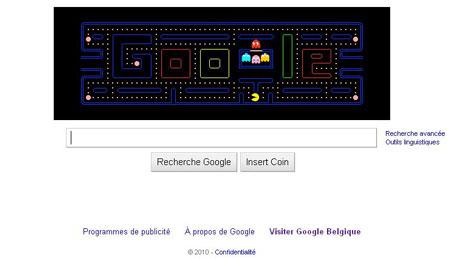 Page d'accueil de Google pour célébrer les 30 ans de pacman