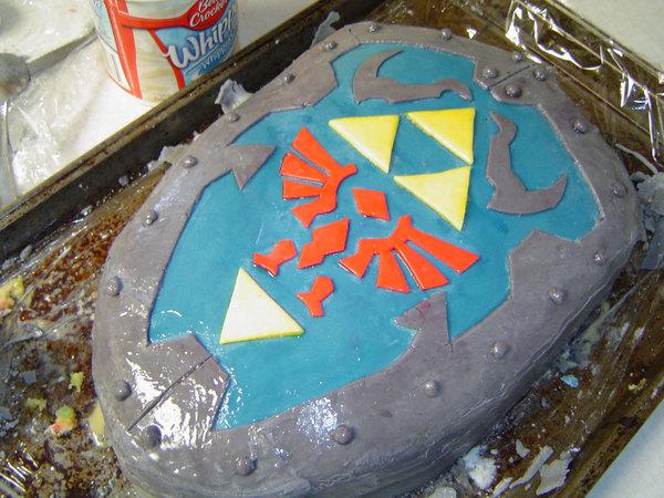 Link's shield cake