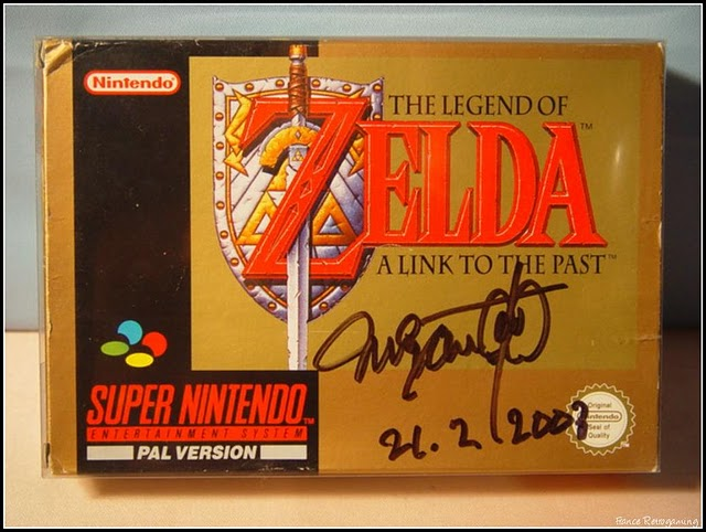 Zelda III dédicacé par Miyamoto