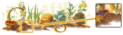 logo Google thanksgiving 2008