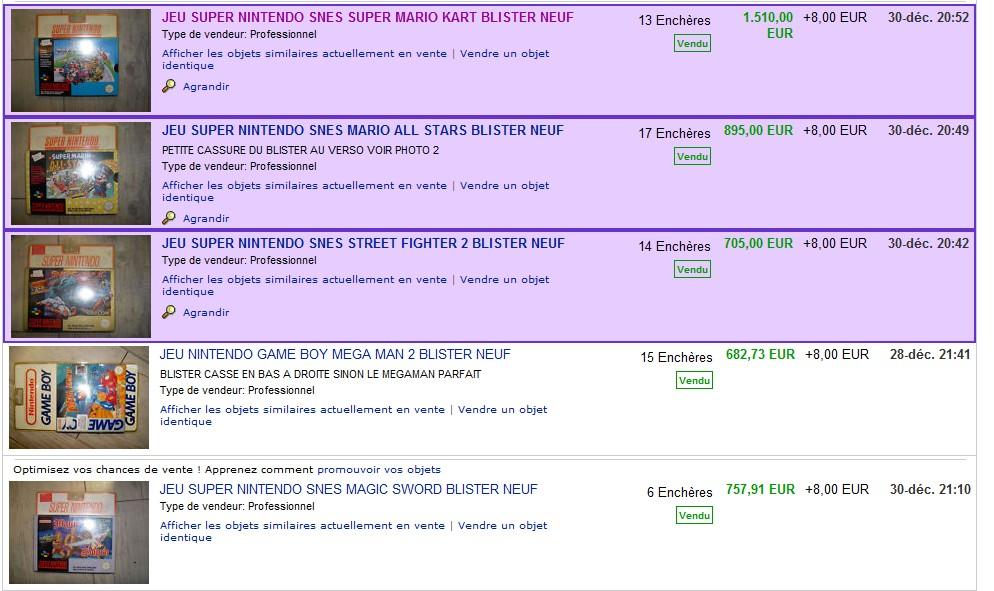 Super Mario Kart sous blister rigide en vente sur ebay 3