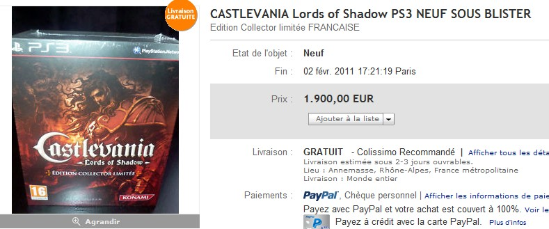 [PS3] L'affaire Castlevania Lords of Shadow Collector FR 2