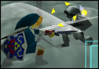 Link VS Dark Link dans Ocarina of Time