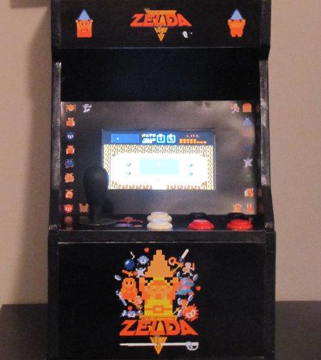 Mini borne d 39 arcade zelda - Borne d arcade maison ...