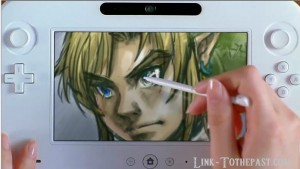 Zelda drawing wiiu