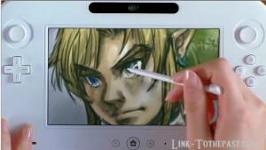 Zelda drawing wiiu