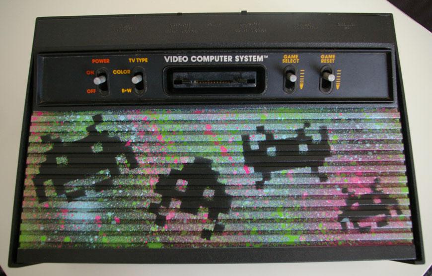 Atari 2600 custom Space Invaders