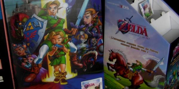 [ARRIVAGE] PLV et présentoir Zelda Ocarina of Time 3DS 1
