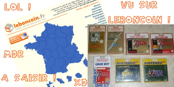 Collection Zelda sous blister rigide en (soi-disant) vente sur leboncoin 5