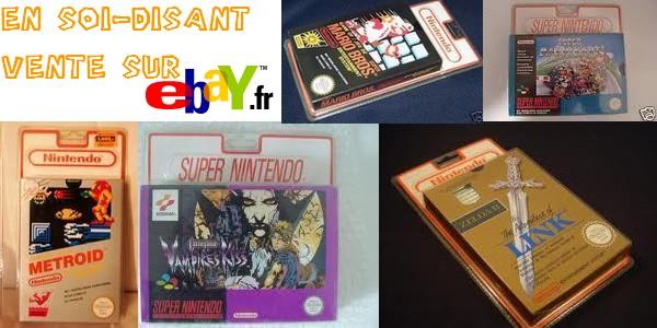 Super Mario Bros, Metroid, Vampire Kiss, sous blister rigide en (soi-disant) vente sur ebay 1