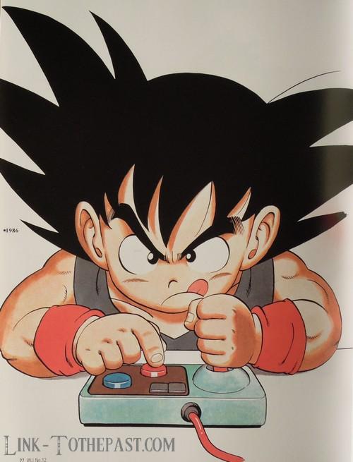 Le Grand Livre de Dragon Ball : Gooku avec un pad