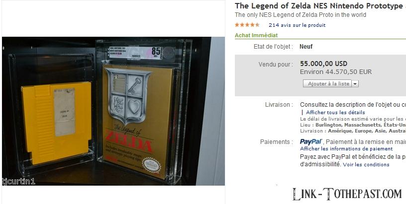 Cartouche prototype du premier Zelda vendue pour 44.500€ 9