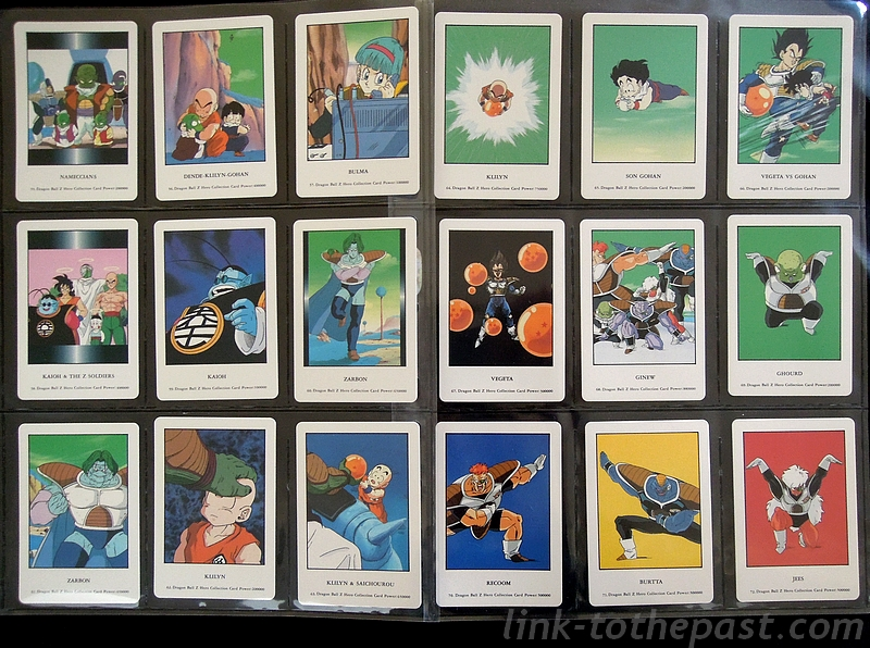 cartes dbz hero collection