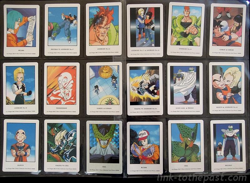 collection cartes dbz