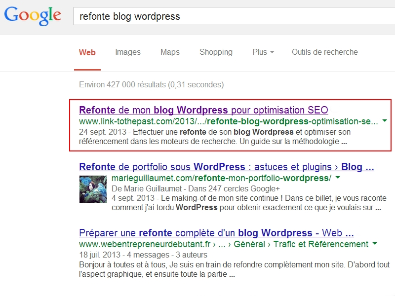 refonte blog wordpress