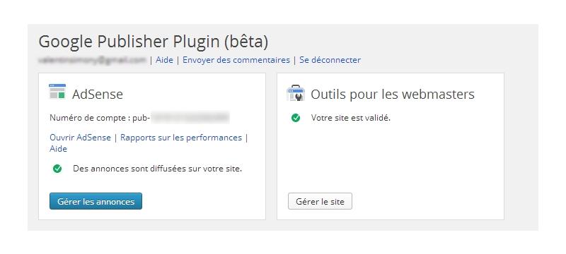 Google Publisher dashboard