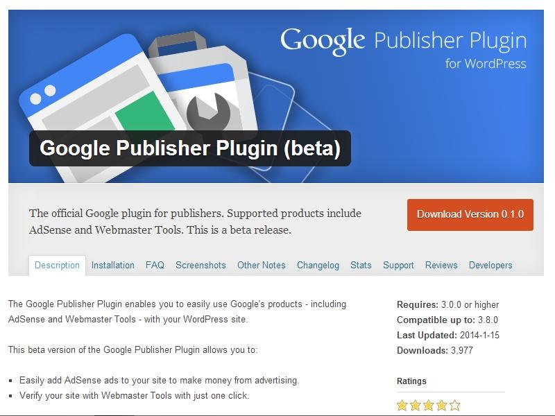 Plugin WordPress Google Publisher