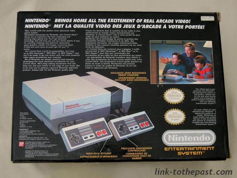 Nintendo Nes control deck back