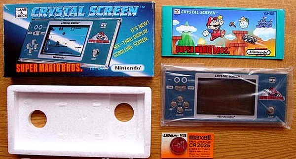 Game and Watch Super Mario Bros Crystal Screen