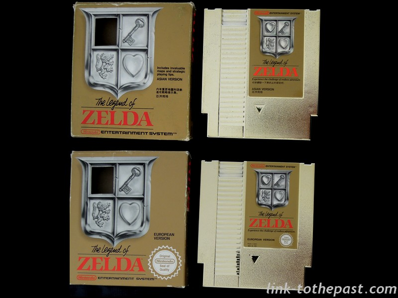 zelda nes asian versus european