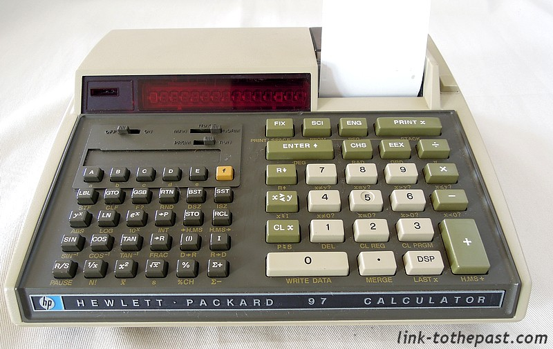 La Calculatrice Hewlett Packard HP97 1