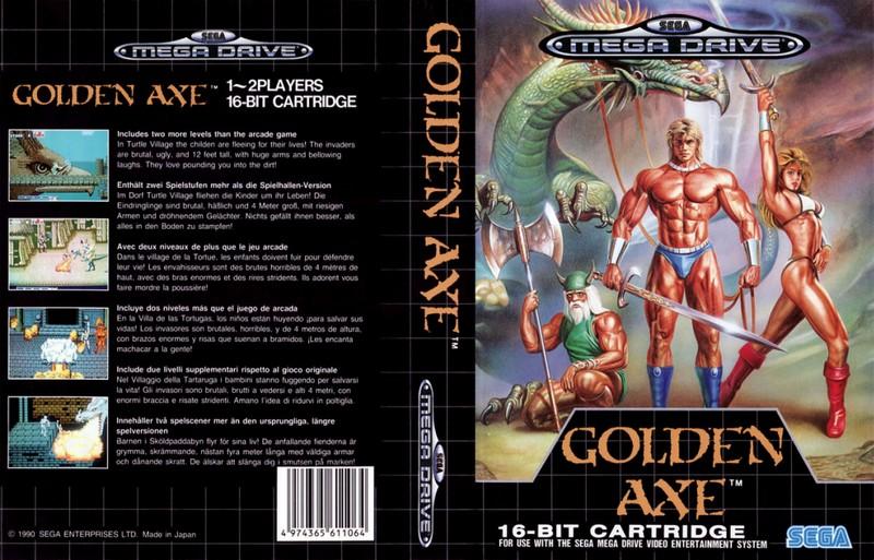 jaquette golden axe megadrive