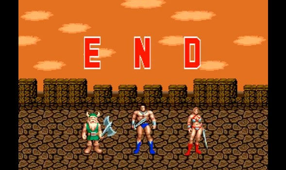 golden axe end