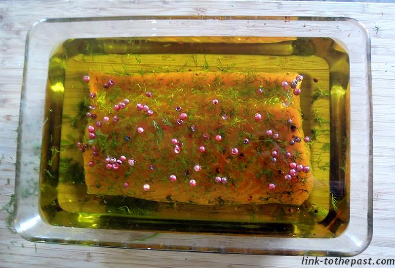 saumon gravlax confit huile dolive