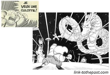 oolong demande une culotte à shenron dans Dragon Ball