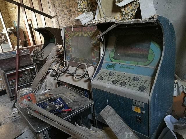 bornes d'arcade flippers abandonnés