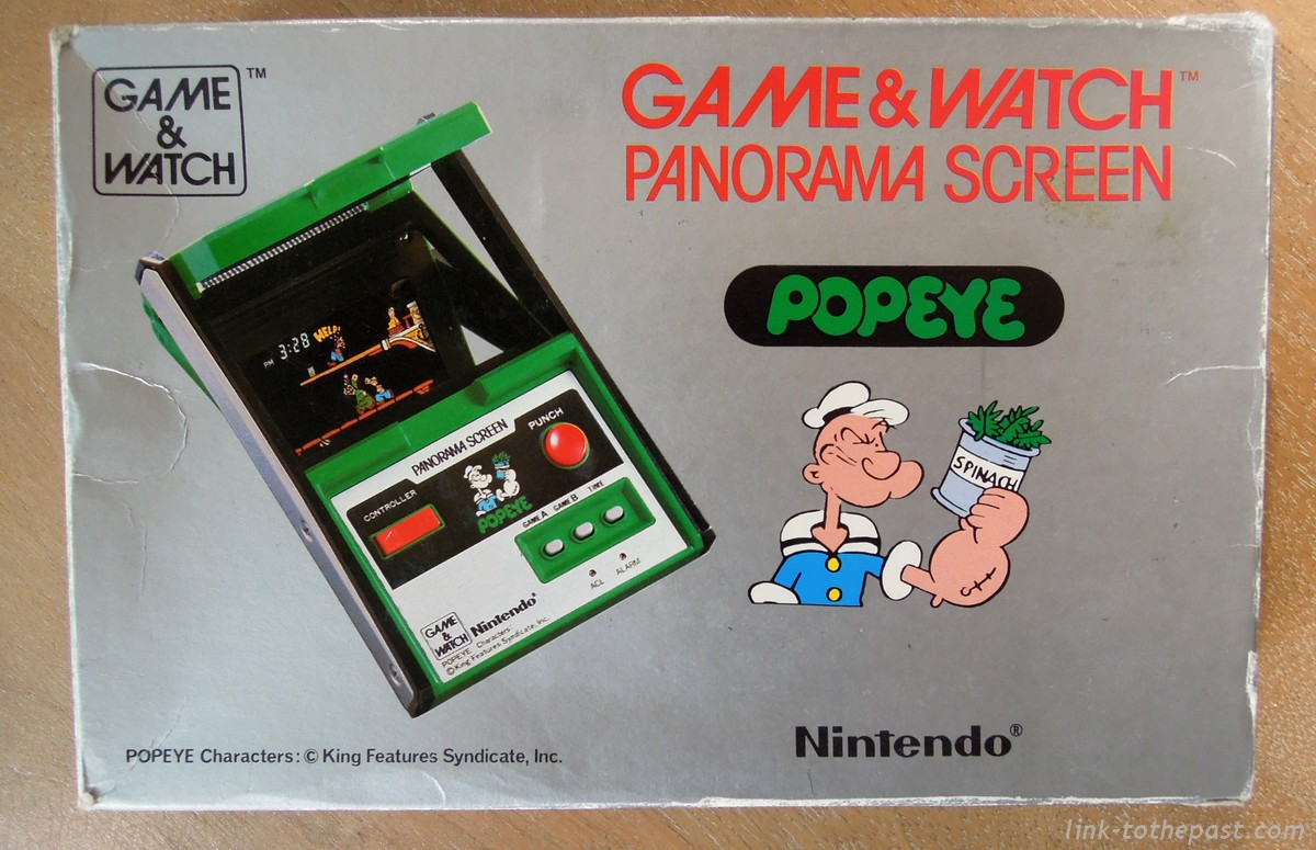 boite game watch popeye panorama screen