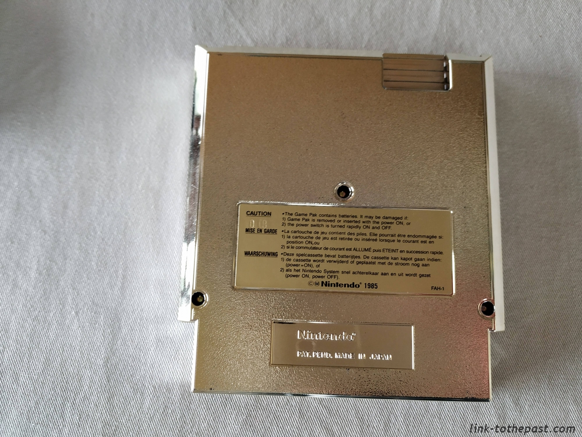 ZELDA II - The Adventure of LINK- NES - FAH- 1 sceau rond blanc - double scellé 16