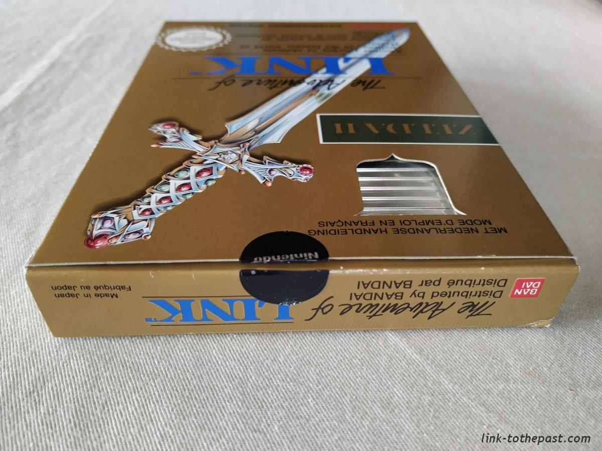 ZELDA II - The Adventure of LINK- NES - FAH- 1 sceau rond blanc - double scellé 6