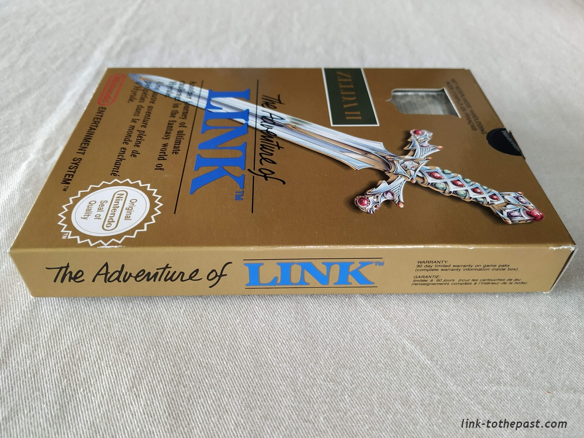 ZELDA II - The Adventure of LINK- NES - FAH- 1 sceau rond blanc - double scellé 5