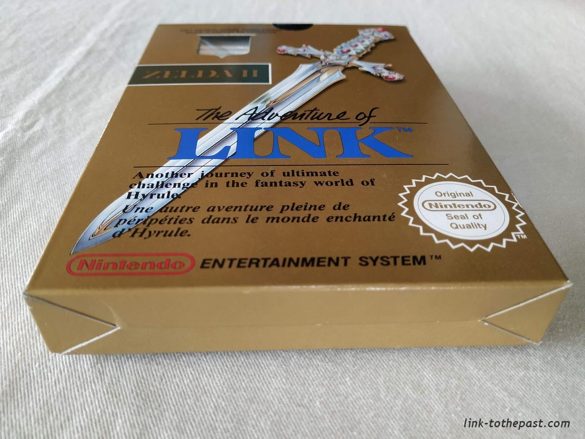 ZELDA II - The Adventure of LINK- NES - FAH- 1 sceau rond blanc - double scellé 3