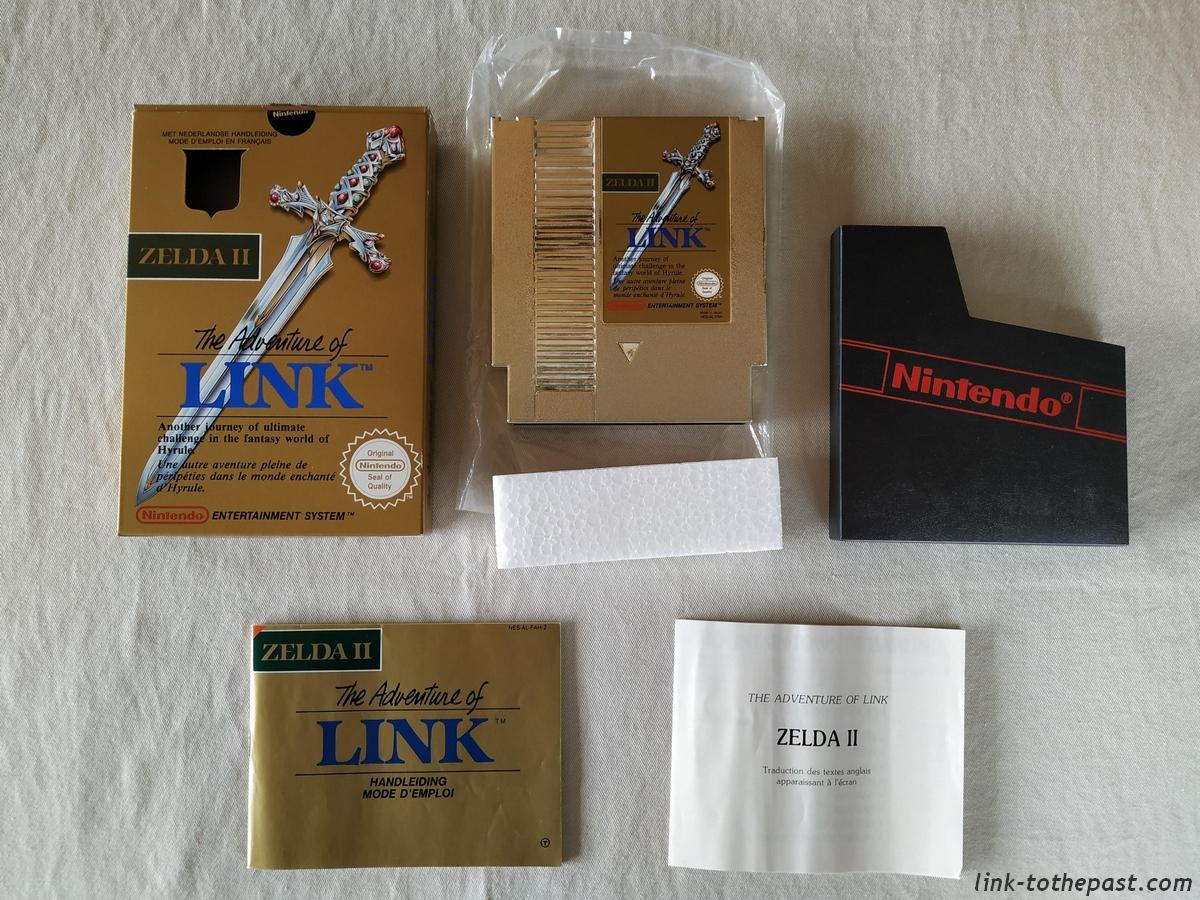 ZELDA II - The Adventure of LINK- NES - FAH- 1 sceau rond blanc - double scellé 10