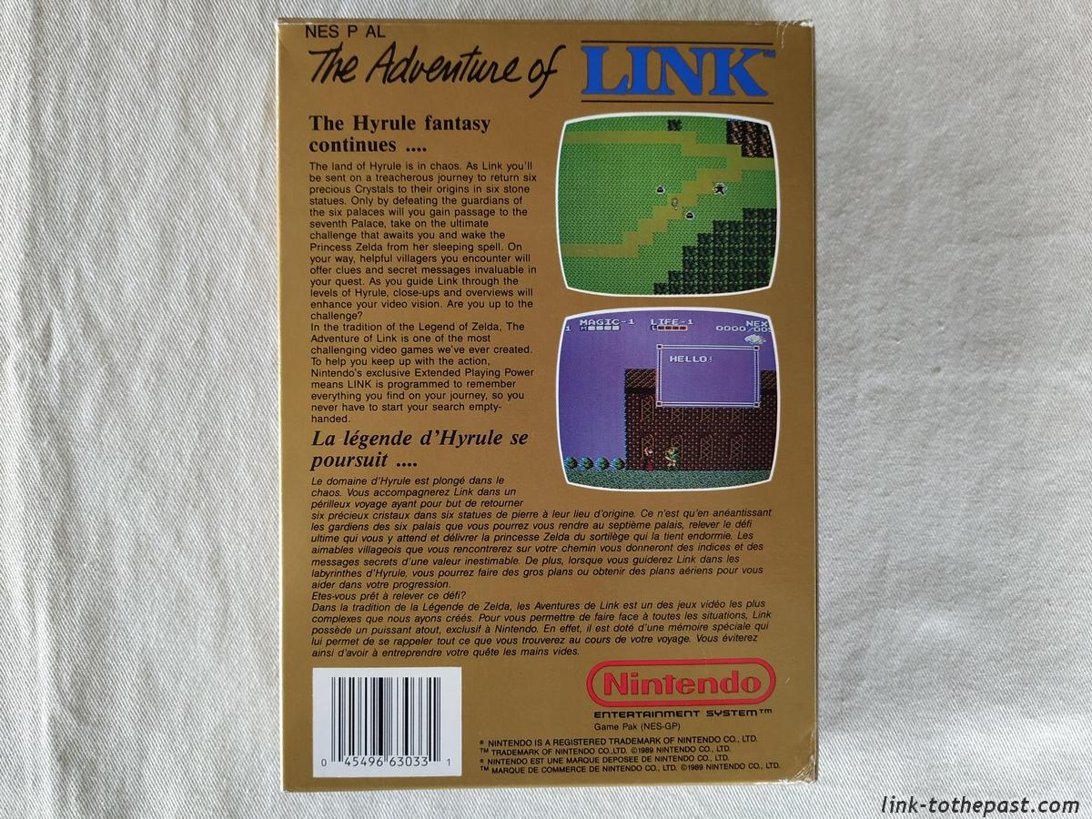 ZELDA II - The Adventure of LINK- NES - FAH- 1 sceau rond blanc - double scellé 2