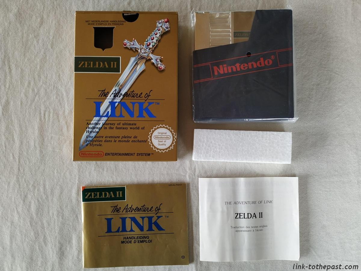 ZELDA II - The Adventure of LINK- NES - FAH- 1 sceau rond blanc - double scellé 9