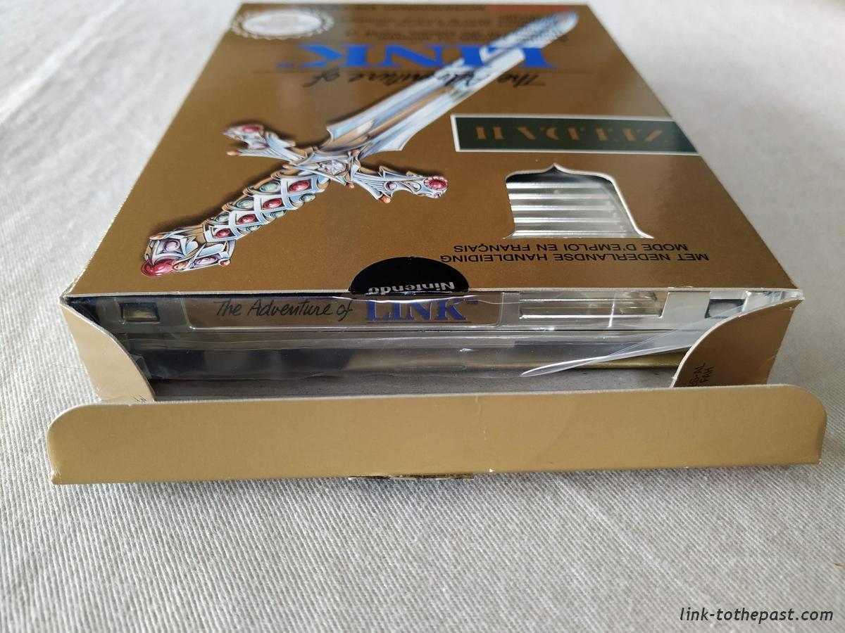 ZELDA II - The Adventure of LINK- NES - FAH- 1 sceau rond blanc - double scellé 8