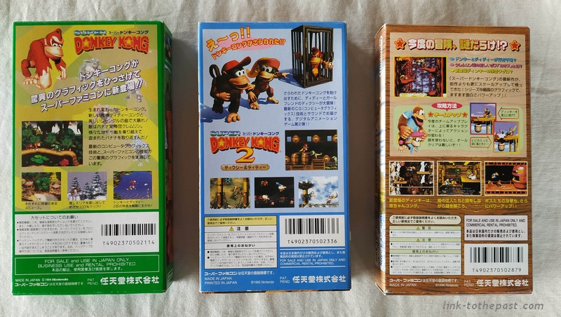 Donkey Kong Country 1 2 3 Super Famicom