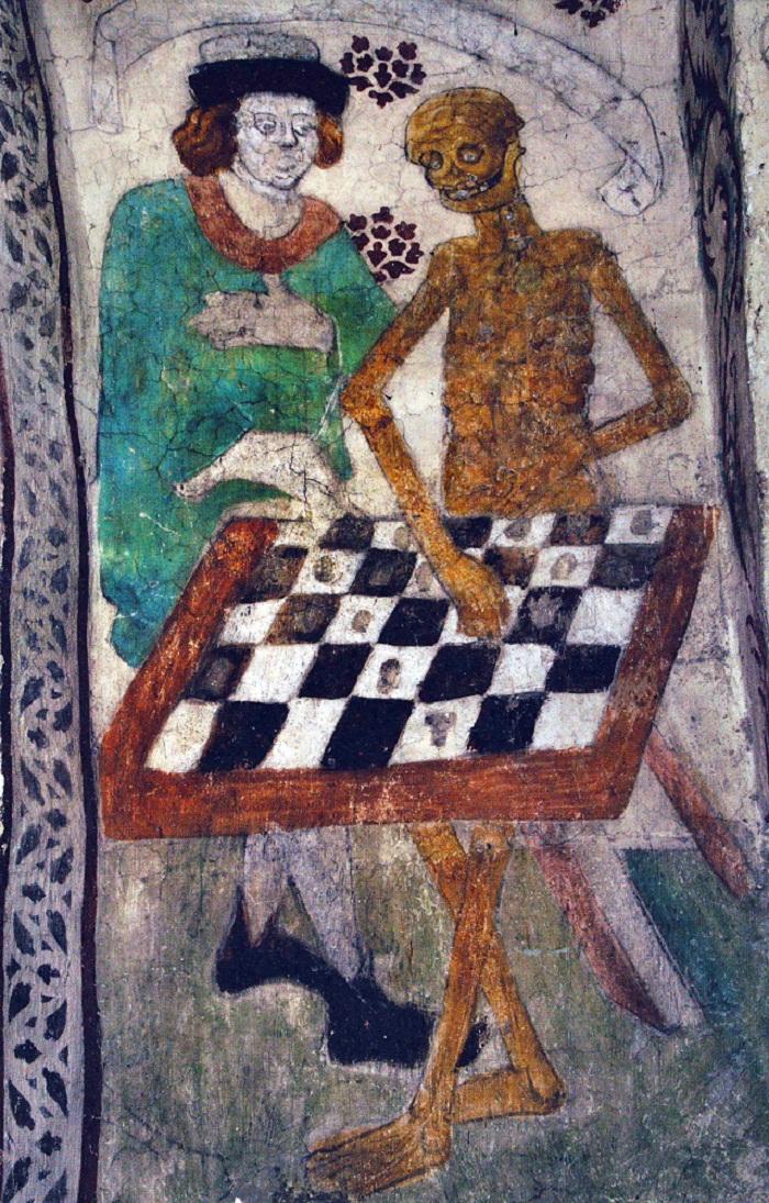tableau La Mort jouant aux échecs