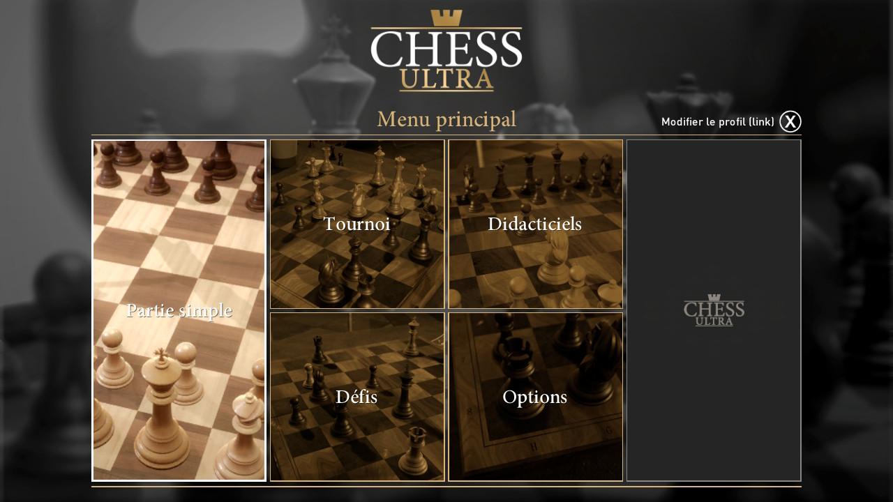 écran accueil ultra chess