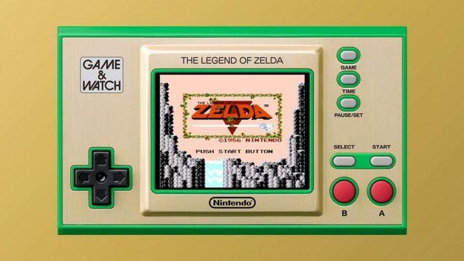 game and watch the legend of zelda nes
